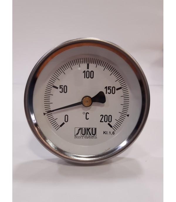 Bimetál hőmérő 100/0+200°C/63mm