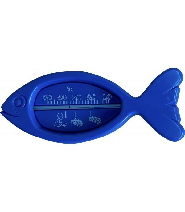Fürdővíz hőmérő hal, kék