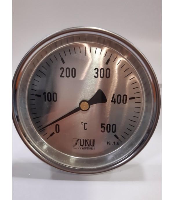 Bimetál hőmérő 63/0+500°C/300mm