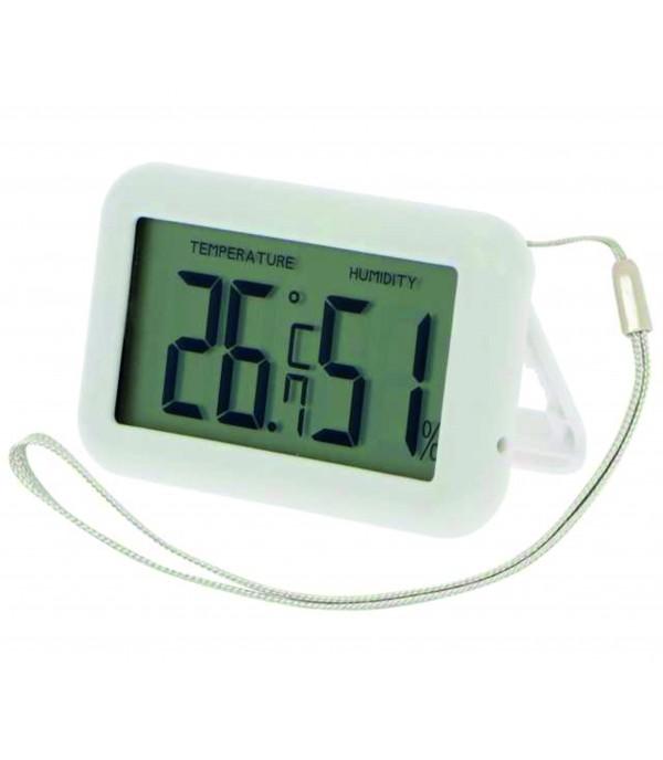 Digitális hőmérő páramérővel, csuklóra rakható zsinórral 1092