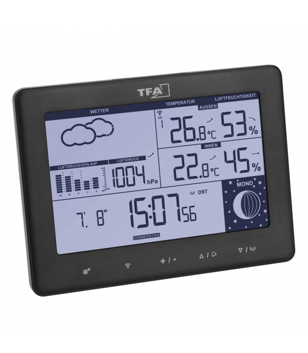 Digitális időjárás állomás 35.1158.01 Elements