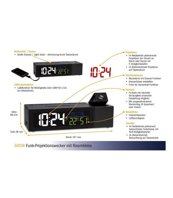 Digitális hőmérő és páramérő projectoros 60.5014.01