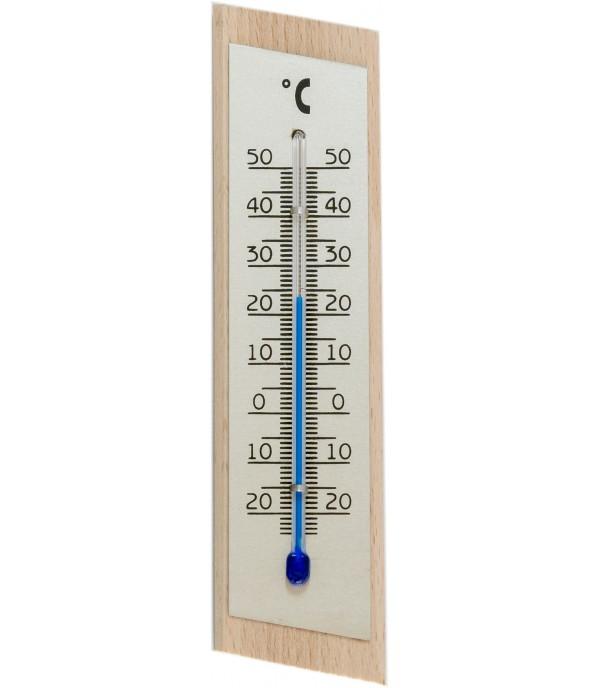 Szoba hőmérő 2062 típus natúr fa