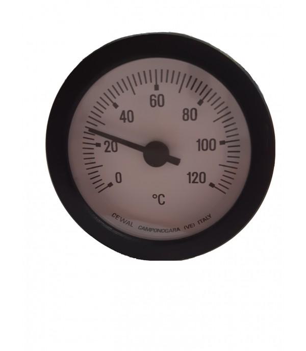 Kapillárcsöves bimetál hőmérő 120°C
