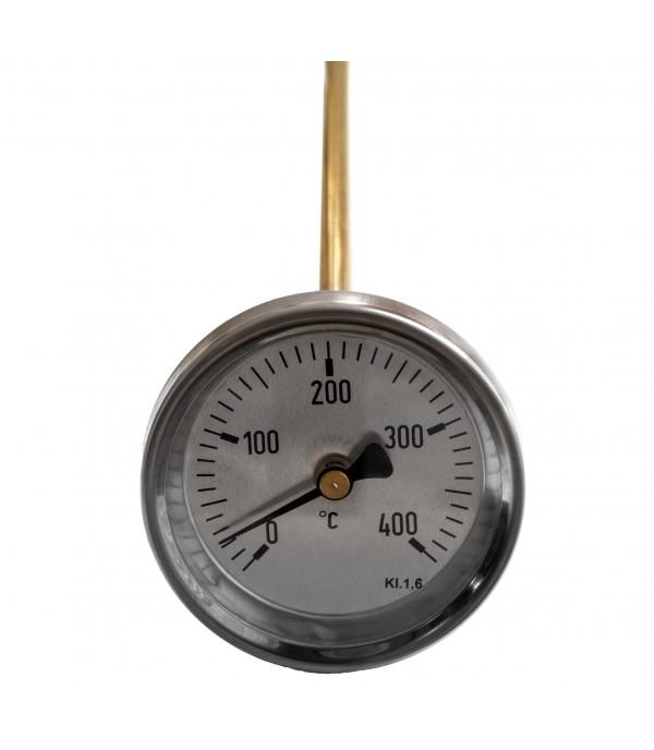 Bimetál hőmérő 63/0+400°C/400mm