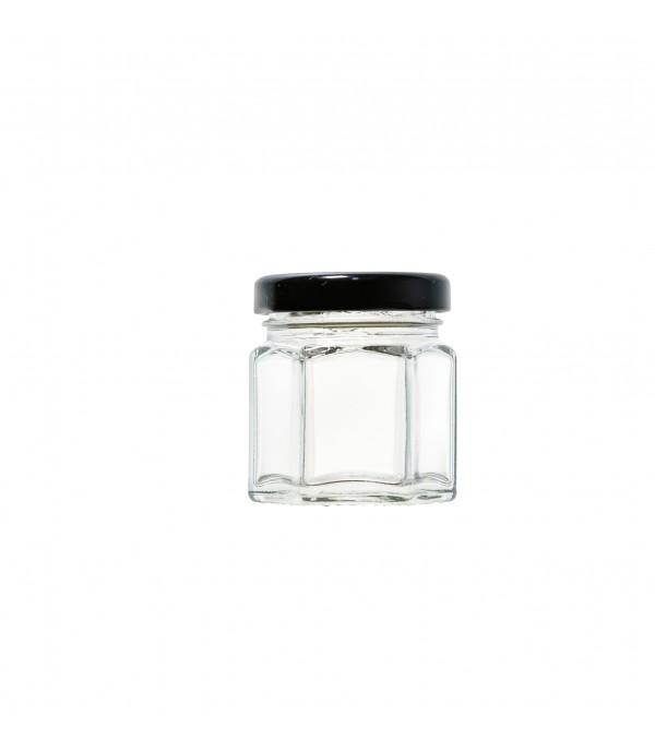 Befőttes üveg tetővel Hexagon 45ml