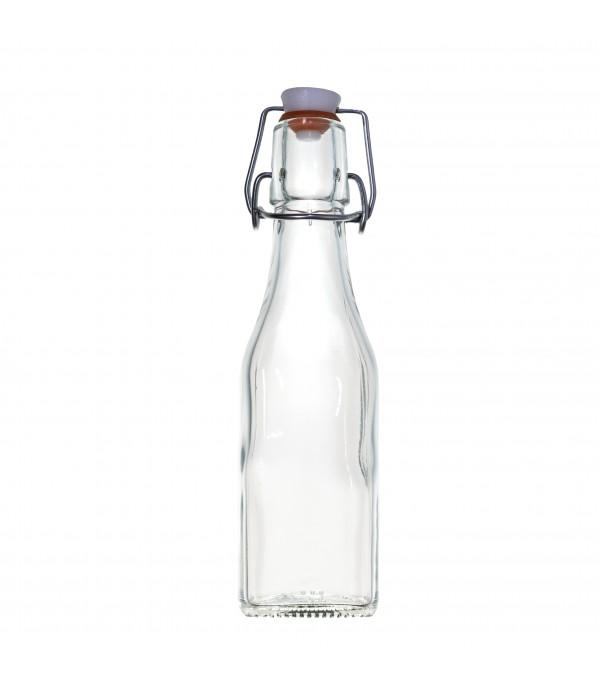 Csatos üveg 0,25L szögletes