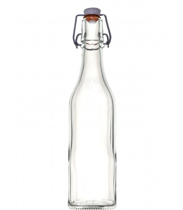 Csatos üveg 0,5L szögletes