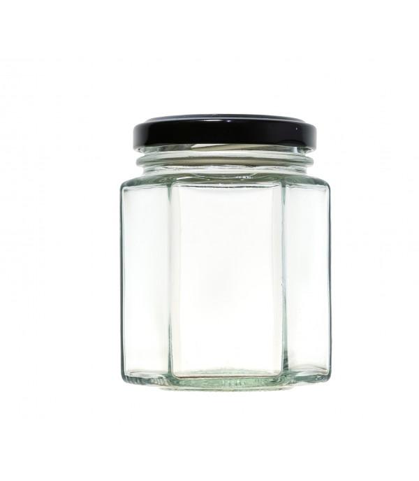 Befőttes üveg tetővel Hexagon 196ml