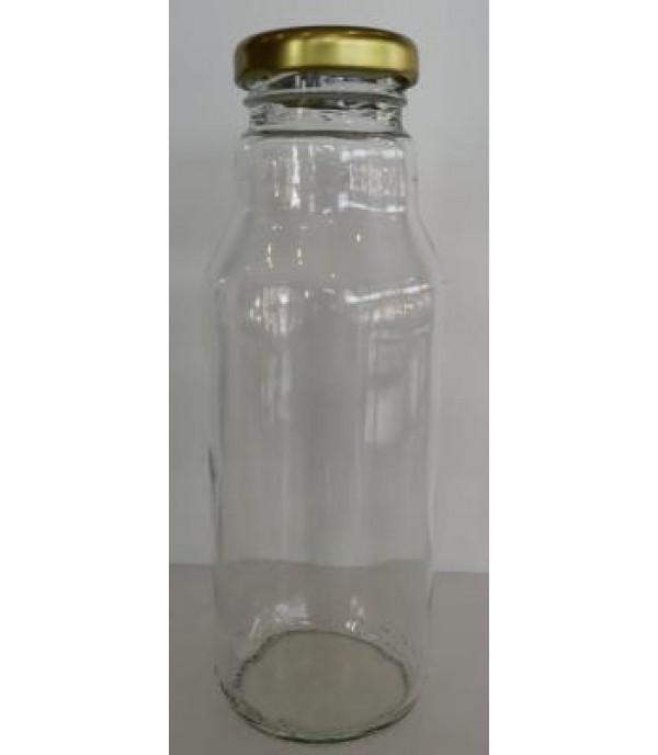 Szörpös üveg tetővel 0,3L
