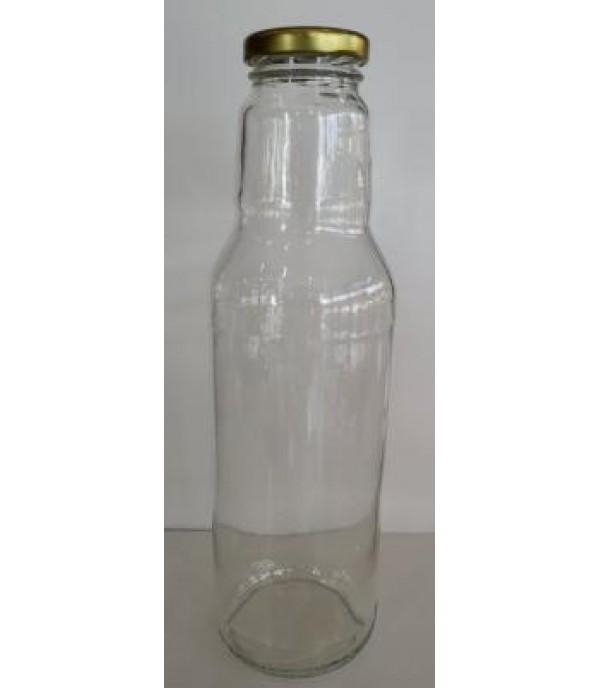 Szörpös üveg tetővel 0,75L