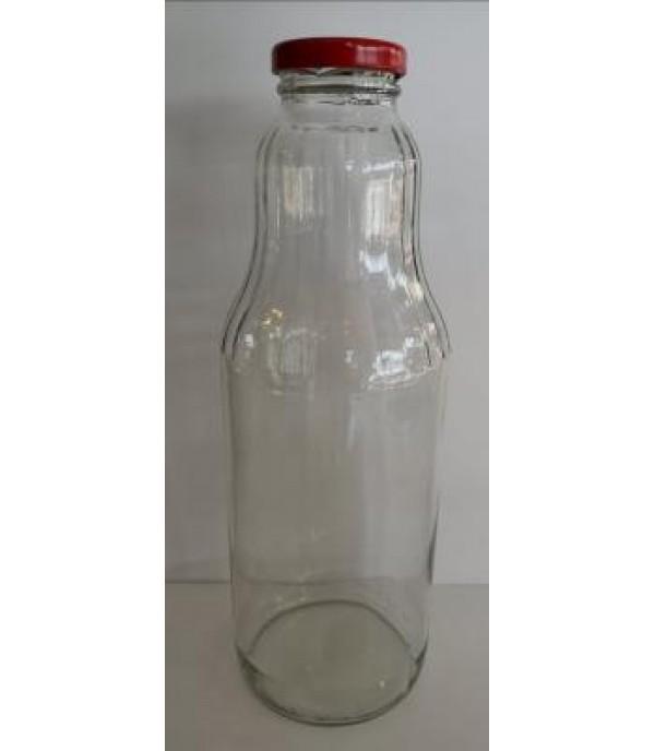 Szörpös üveg tetővel 1L