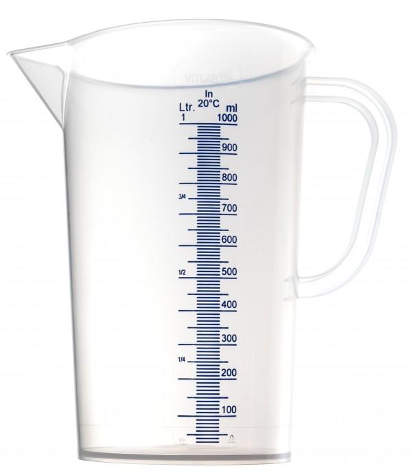 Mérőpohár PP műanyag 1000ml