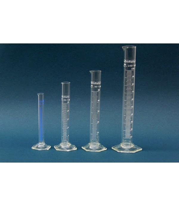 Mérőhenger üveg talppal 10ml