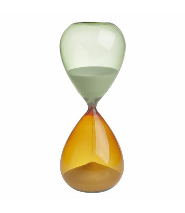 Homokóra 18.6010.02.41 30 perces, narancs-zöld üvegben