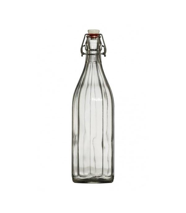 Csatos üveg bordás 1L