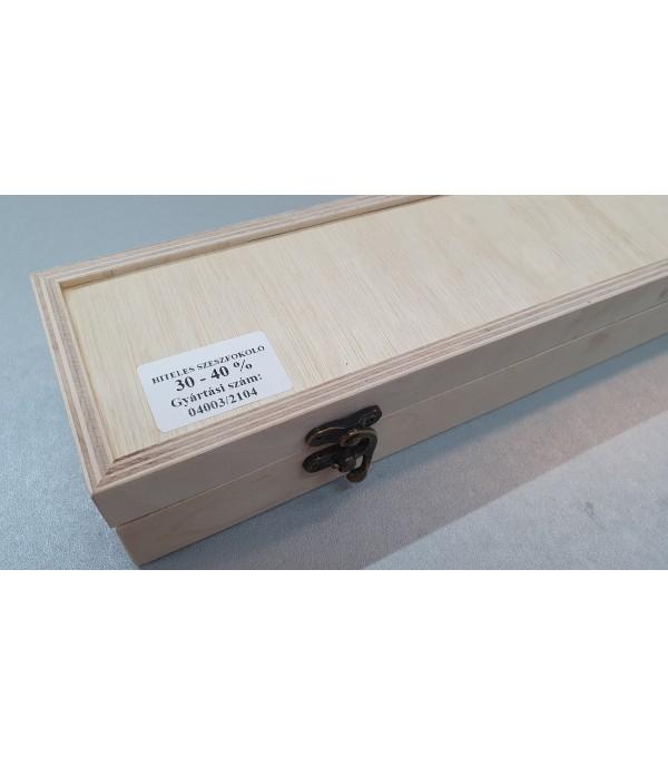 Tároló doboz hiteles szeszfokolóhoz