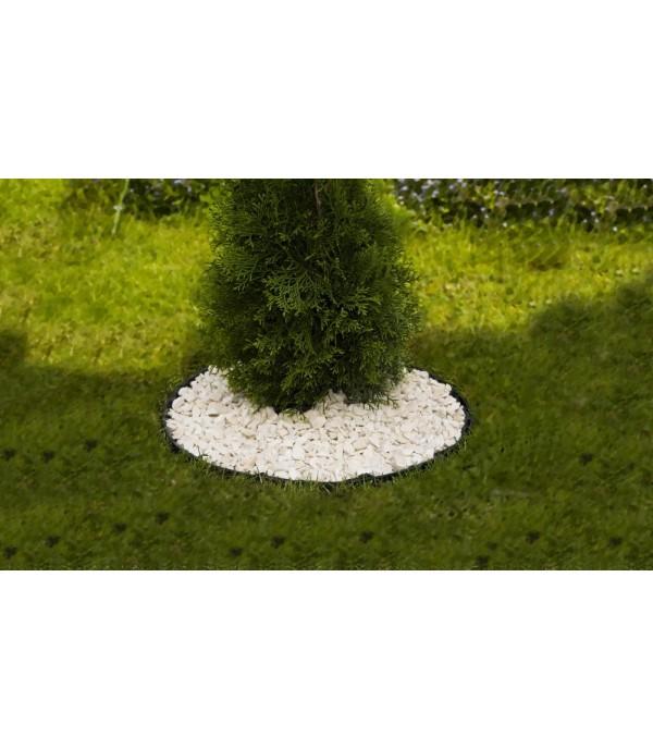Hajlítható, zöld műanyag ágyásszegély 6 cm
