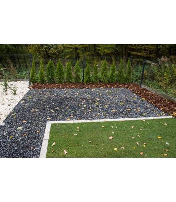 Ágyásszegély fekete 6x100cm