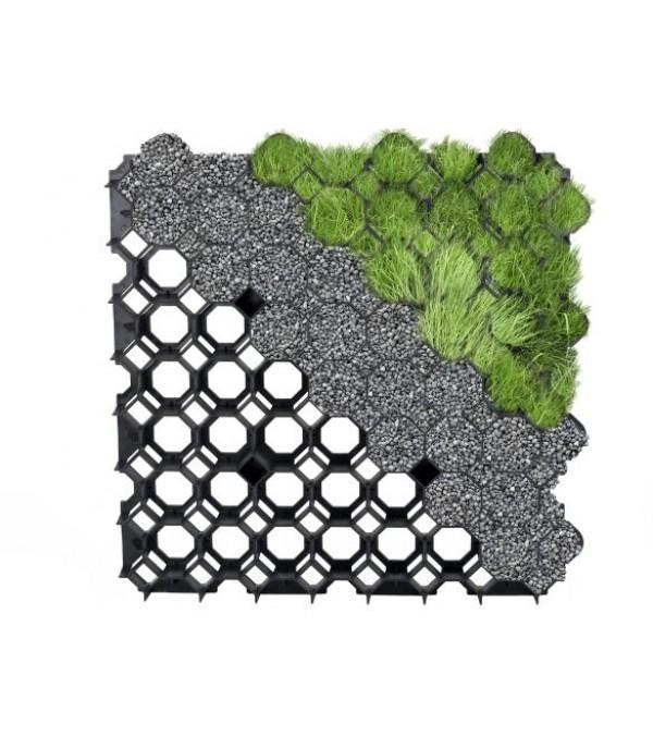 Gyeprács fekete műanyag 50x50cm