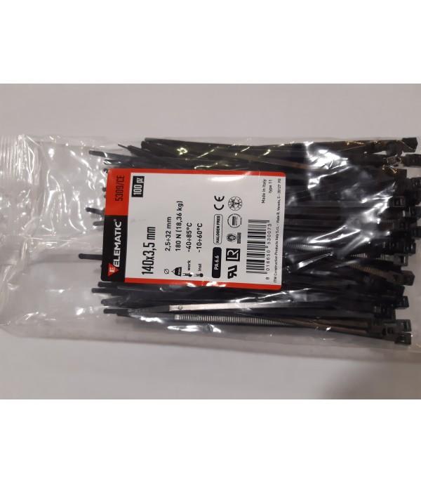Kábelkötegelő 140x3,5mm fekete