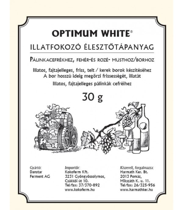 Illatfokozó Optimum White 30g