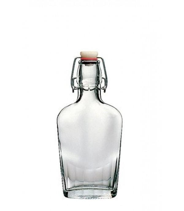 Csatos lapos üveg 2 dl