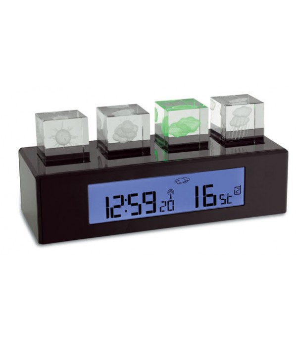 Digitális időjárás állomás Crystal Cube 35.1110