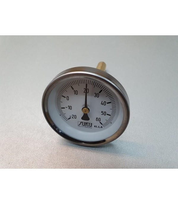 Bimetál hőmérő 63/-20+60°C/100mm