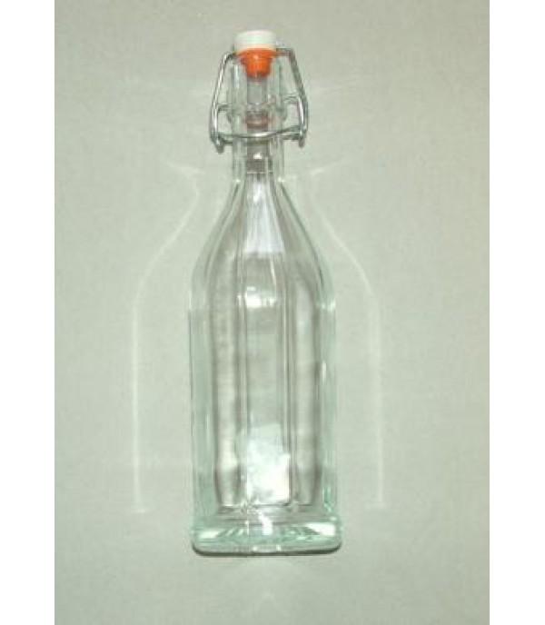 Csatos üveg bordás 4cl