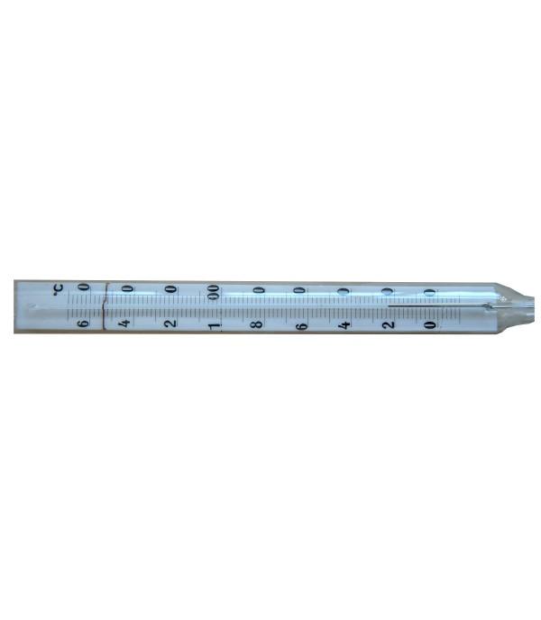 Ipari kis könyök üveg hőmérő -35°...+50°C/104mm