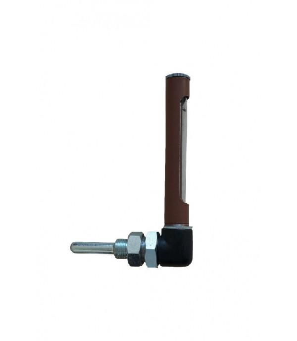 Ipari Kis könyök fémtokos hőmérő -35°...+50°C/63mm