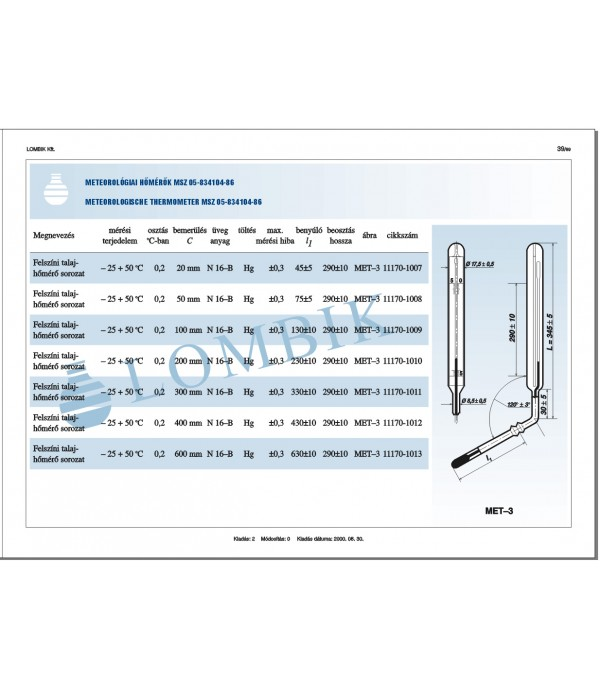 Felszíni talajhőmérő 20mm