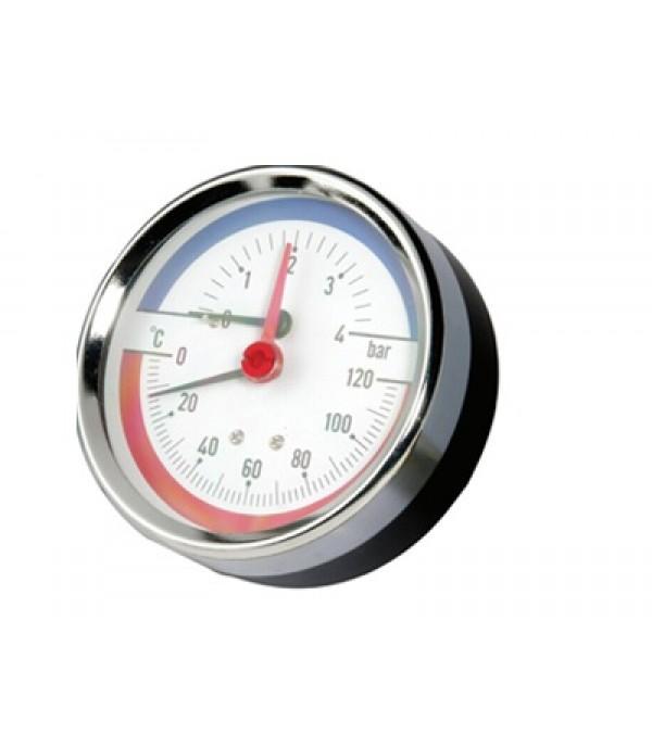 Manométer hőmérővel 0-10bar/120°C