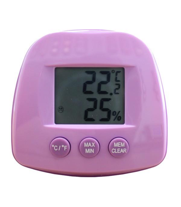 Digitális hő- és páramérő ST504-lila