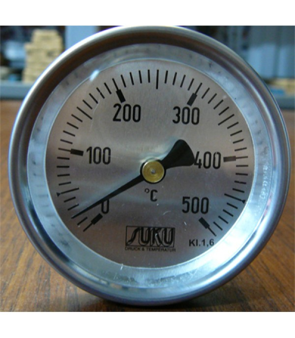 Bimetál hőmérő 63/0+500°C/63mm