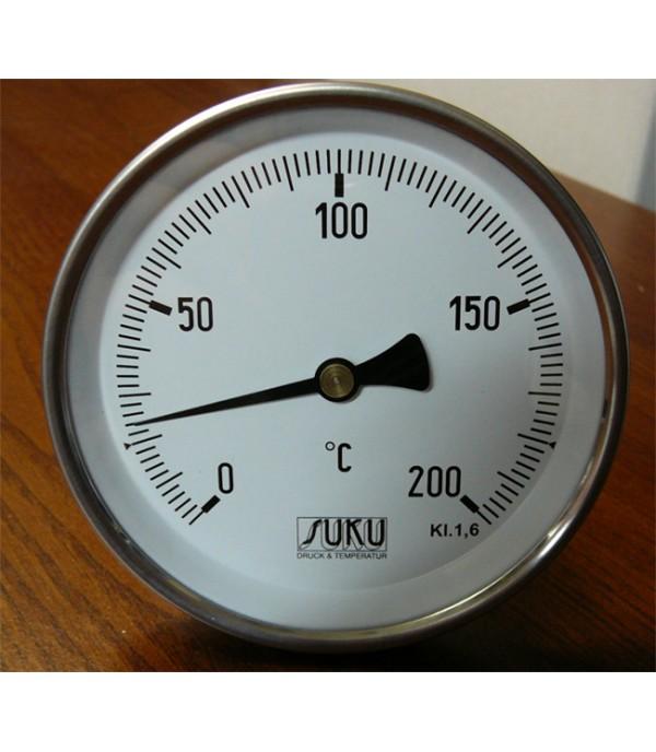 Bimetál hőmérő 100/0+200°C/150mm