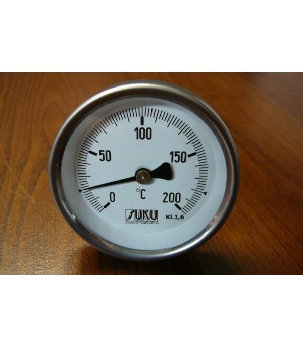 Bimetál hőmérő 63/0+200°C/100mm