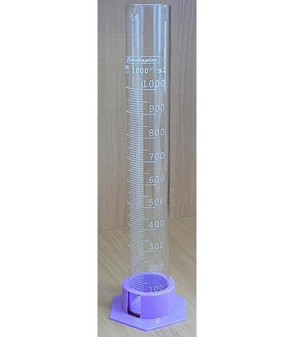 Mérőhenger üveg, műanyag talppal 1000ml
