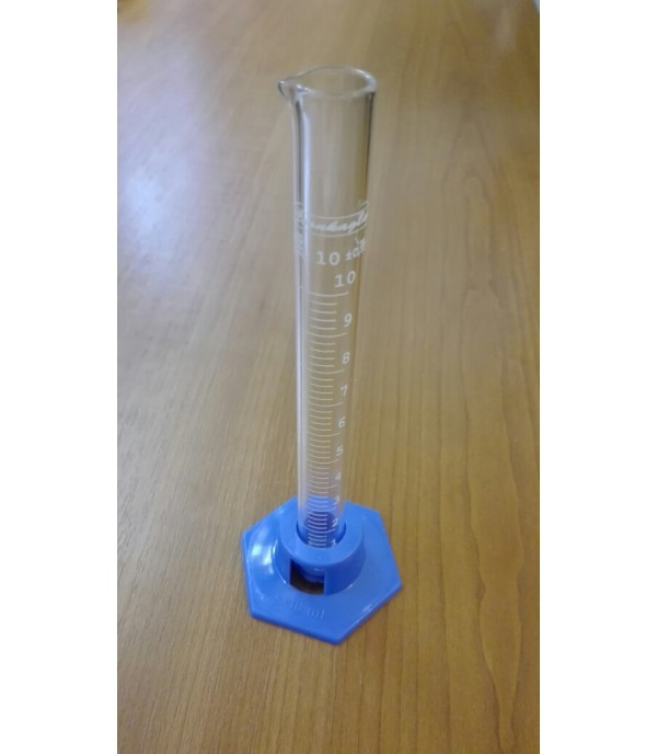 Mérőhenger üveg, műanyag talppal 10ml