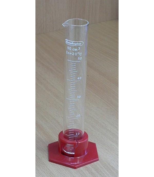 Mérőhenger üveg, műanyag talppal 50ml