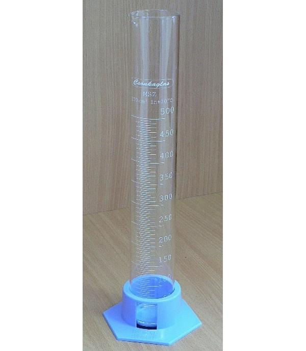 Mérőhenger üveg, műanyag talppal 500ml