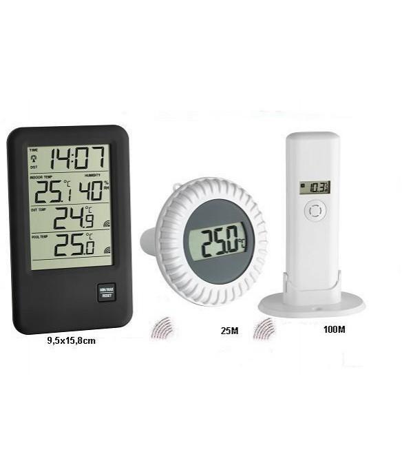 Digitális medence- és levegő hőmérő 30.3053