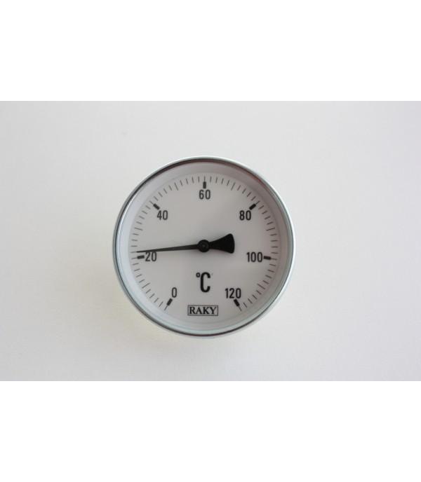 Bimetál hőmérő csőre szerelhető 0+120°C