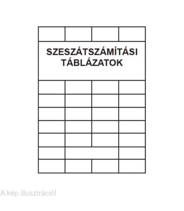 Szeszátszámítási táblázatok