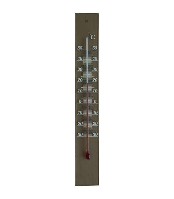 Üveghátlapos hőmérő füstszínű -30°...+50°C